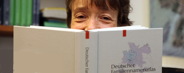 Professor Dr. Damaris Nübling's special interest is the development of the German language from its first documented form to contemporary German. (photo: Stefan F. Sämmer)