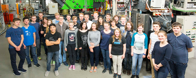 During the 2016 summer break, 24 high school students from all over Germany attended the first Mainz Particle Physics Academy. (photo: Stefan F. Sämmer)