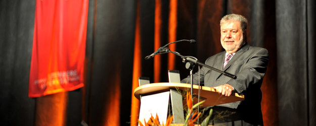 Among others, Minister-President Kurt Beck hold a speech at the Conference. (photo: Jan Hildner)