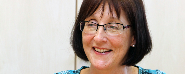Professor Anneli Sarhimaa of the Northern European and Baltic Languages and Cultures research and teaching unit initiated the Sociolinguistics and Multilingualism degree program in 2011. <small>(photo: Stefan F. Sämmer)</small>